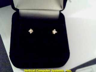 DIAMOND  EARRINGS L'S 14KT DIAMOND PW39B1 .3/YG