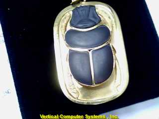 ANIMAL  CHARM 14KT ANIMAL ONYX BEETLE PW 787 9.9/YG