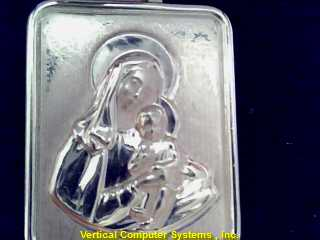RELIGIOUS  CHARM 14KT RELIGIOUS MOTHER MARY AND INFANT JESUS/ PW 2913 1.3/YG