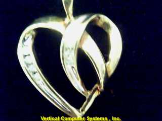 HEART  CHARM 10KT HEART REAL DIAMONDS PW3981 1.2/YG