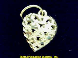 HEART  CHARM 14KT HEART PW2554 .7/YG