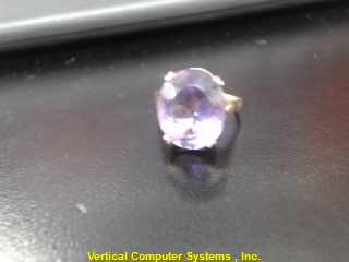 L'S 14KT Purple Stone Lady's Stone Ring PURPLE STONE(S) 14K Yellow Gold 2.5dwt