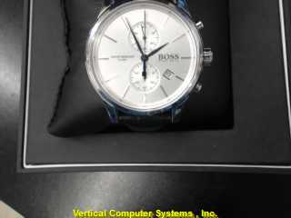 BOSS_HUGO_BOSS CRONO WATCH   NEW IN BOX BLACK/SILVER