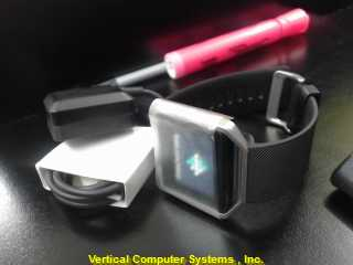 FITBIT FB502 WATCH   WITH CHGR BLK/SLVER