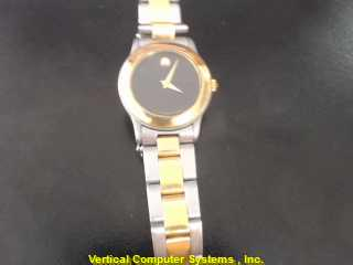 MOVADO 81.36.812.2 GOLD/SILVER WATCH PLATED   WATCH