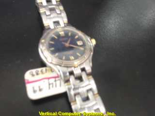 SEIKO V782-0779 GOLD/SILVER WATCH PLATED   WATCH