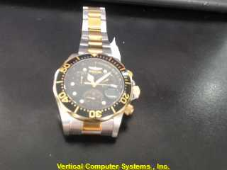 INVICTA 20AMT GOLD/SILVER WATCH PLATED   ELITE WATCH
