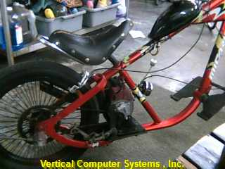 HOME_MADE_MOTOR_BICYCLE N/V    NANCY CARRIER CAN PICK UP THE BIKE RED