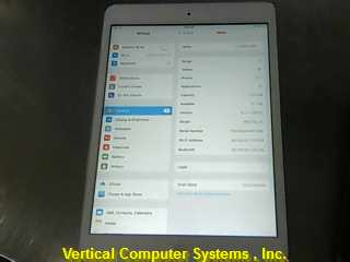 APPLE ME279LL/A IPAD/IPOD/TABLET   CRAK ON THE TOP RIGHT HALF SPACE_GREY