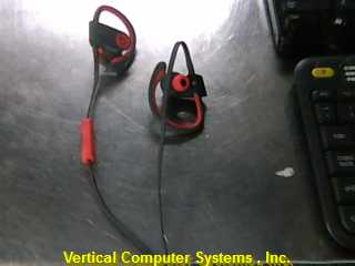 BEATS_AUDIO POWER_BEATS BLUE TOOTH SPEAKER    GREY/_RED