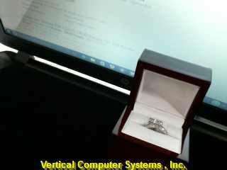 DIAMOND Lady's Diamond Cluster Ring 25 Diamonds .54 Carat T.W. 14K White Gold