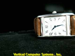 COACH W502B NON-GOLD WATCH   W/BROWN BAND STAINSTEEL