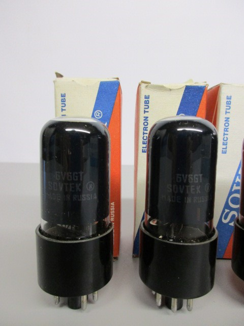 FOUR (4) MATCHED SOVTEK 6V6GT POWER TUBES, TEST GOOD.