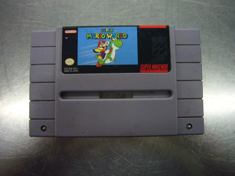 "SNES SUPER MARIO WORLD ""GAME ONLY"""