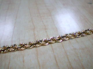 Gold Rope Bracelet 14K Yellow Gold 10.7g