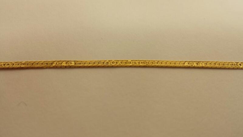 """14k Yellow Gold Bracelet 7"""" (Multiple Kinks)"""