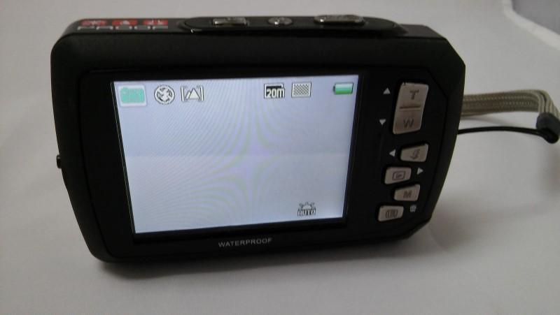 COLEMAN DUO2 2V9WP-R 20 MP WATERPROOF DIGITAL CAMERA DUAL LCD SCREEN