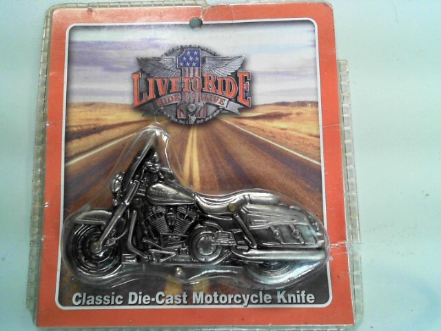 DIE-CAST MOTORCYCLE FOLDING POCKET KNIFE