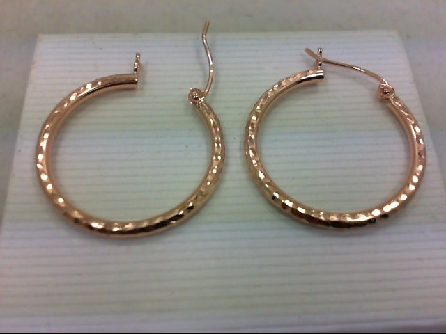 Gold Earrings 10K Rose Gold 1.2g