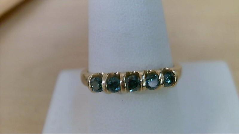 Lady's Diamond Wedding Band 5 Diamonds .35 Carat T.W. 10K Yellow Gold 3.44g