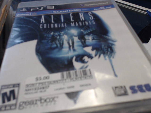 SONY PS3 ALIENS COLONIAL MARINES