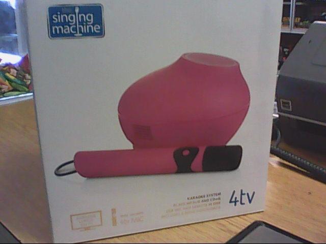 THE SINGING MACHINE Karaoke Machine SMC4TVBK