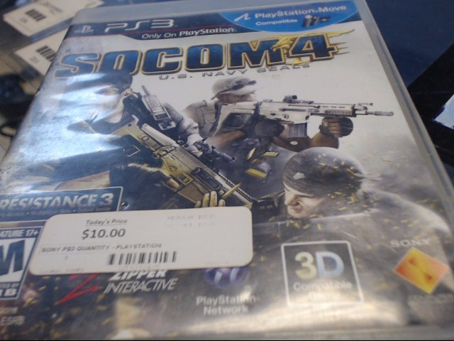 SONY PS3 SOCOM 4 US NAVY SEALS
