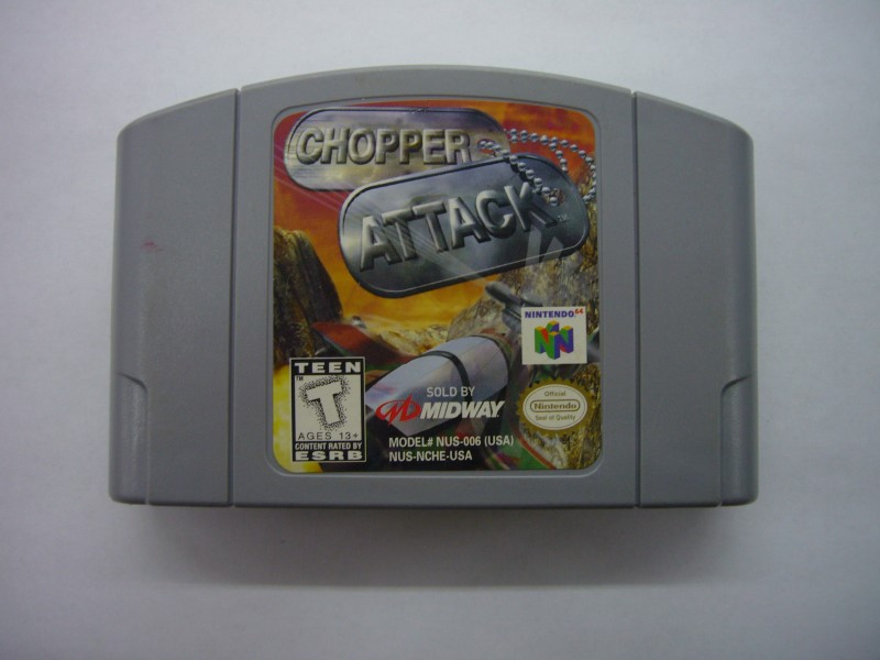 NINTENDO 64 Game CHOPPER ATTACK *CARTRIDGE ONLY*