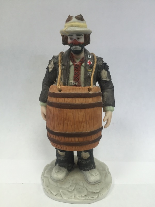 "EMMETT KELLY JR ""OVER A BARREL"" Figurine"