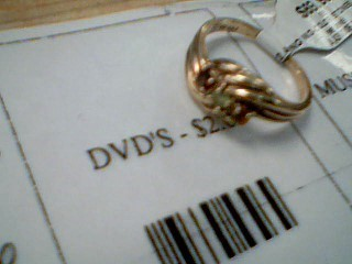 Yellow Stone Lady's Stone Ring 10K Yellow Gold 2.4g