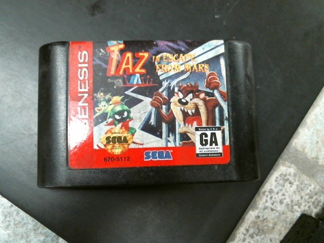 SEGA Vintage Game TAZ IN ESCAPE FROM MARS