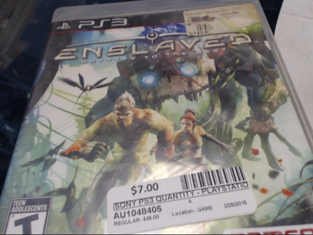 SONY PS3 ENSLAVED