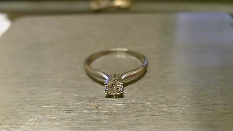 Lady's Diamond Engagement Ring .37 CT. 14K White Gold 2.05g