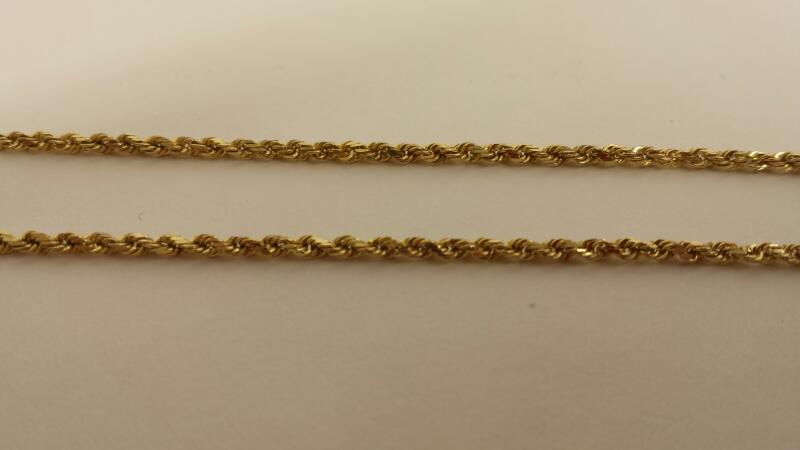 """14k Yellow Gold Chain 20"""""""