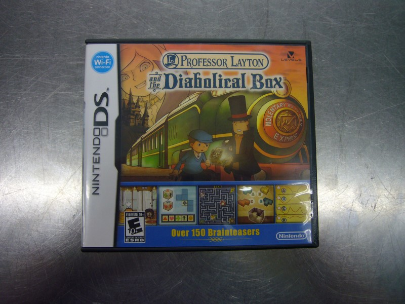 NINTENDO DS Game PROFESSOR LAYTON AND THE DIABOLICAL BOX