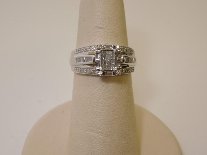 Lady's Diamond Wedding Band 76 Diamonds .86 Carat T.W. 10K White Gold 4.1g