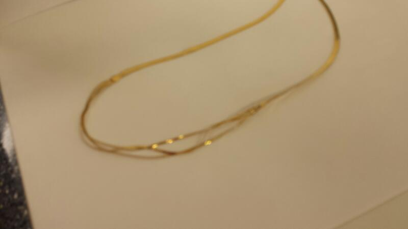 "18"" Gold Herringbone Chain 14K Yellow Gold 4.5dwt"