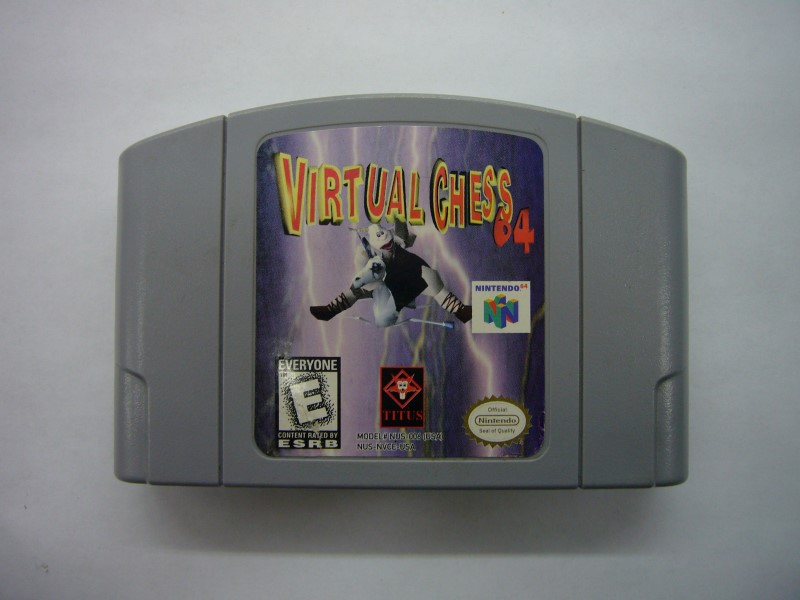 NINTENDO 64 Game VIRTUAL CHESS 64 *CARTRIDGE ONLY*