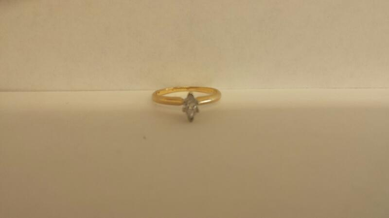 Lady's Diamond Solitaire Ring .19 CT. 14K Yellow Gold 1dwt Size:5