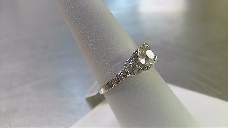 Lady's Platinum-Diamond Ring Guard 9 Diamonds 1.90 Carat T.W. 950 Platinum 3.9g