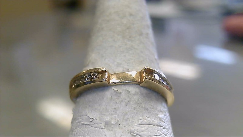 Lady's Diamond Wedding Band 8 Diamonds .24 Carat T.W. 10K Yellow Gold 2.6g
