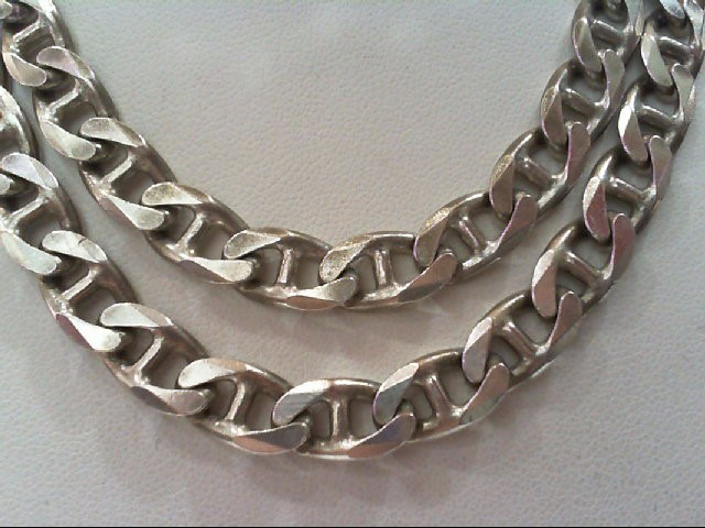 LINK CHAIN STAMPED 925 ITALY 58.1G Silver Nickel Link Chain 925 Silver 58.1g