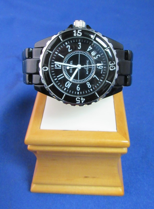 CHANEL GENTS WATCH  J12 - H1007 MENS CHRONOGRAPH AUTOMATIC CERAMIC