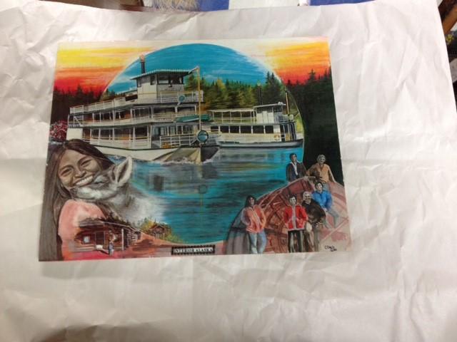 QUEEN OF INTERIOR ALASKA'S WATER WAYS VINTAGE POST CARD (LARGE)