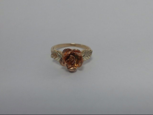 Lady's Gold Ring 10K 2 Tone Gold 1.87g Size:5