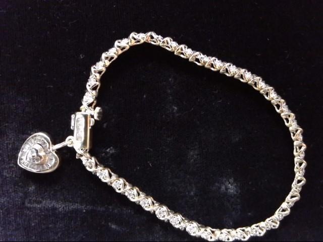 Gold-Diamond Bracelet 68 Diamonds 1.07 Carat T.W. 14K Yellow Gold 11.2g