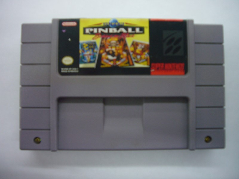 "NINTENDO SNES SUPER PINBALL BEHIND THE MASK ""GAME ONLY"""
