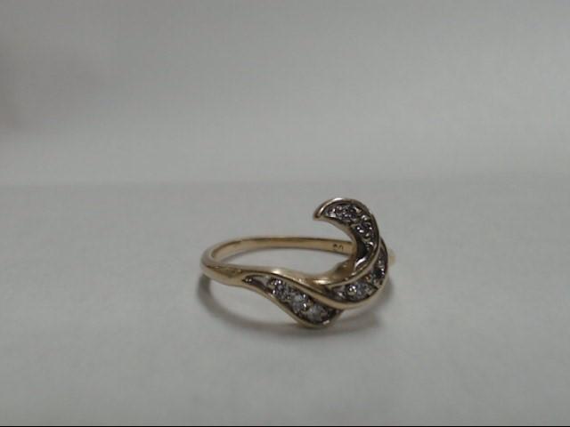 Lady's Diamond Fashion Ring 7 Diamonds .21 Carat T.W. 14K Yellow Gold 2.52g