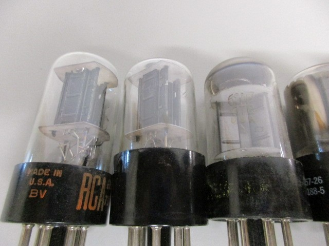LOT OF SIX (6) TUBES, UNTESTED.