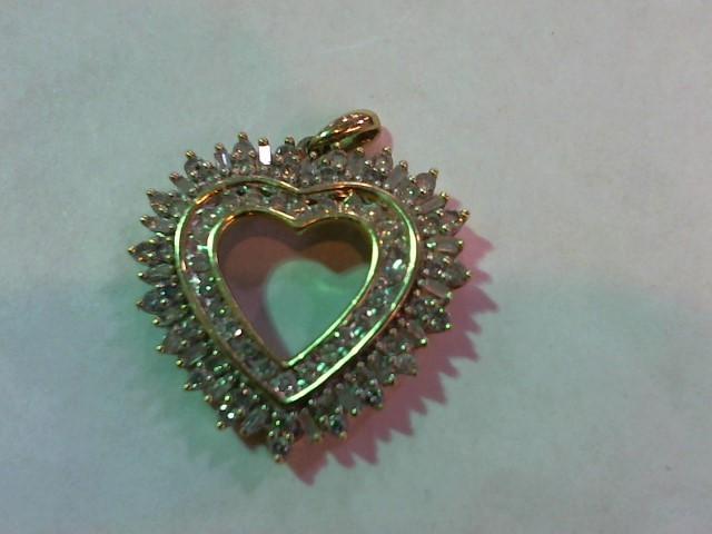 Gold-Multi-Diamond Pendant 86 Diamonds .770 Carat T.W. 14K Yellow Gold 4.3g